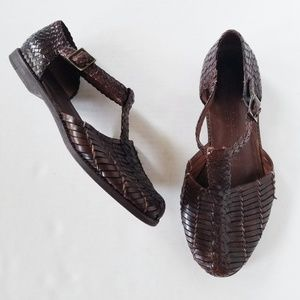 Cole Haan Resort Brown Woven Leather Sandals 8.5M
